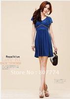 Платье для вечеринки Women's sleeveless dress V neck dress Ruched party dress mix order