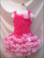 Free Shipping 5pcs baby girl dress Tutu Petti Dress (Tutu Top+ Tutu Skirt)clothing baby clothes