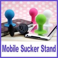 100pcs/lot For Apple iPhone 4 4S 5 Samsung Galaxy SONY HTC Smart Cellphone Mobile Sucker stand cradle holder DHL Free Shipping