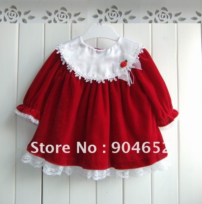 Baby girl s winter clothing 2012 toddler s christmas tunic dress top