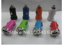 Mini USB Car Charger USB Adapter for 3G 50pcs lot