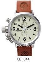 Free Shipping ! FLIGHTDECK - Energy Reserve Chrono Chronograph Men's Watches Brown band Watch Wristwatch UB-17