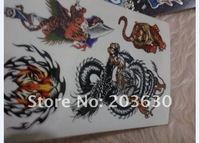 temporary tattoo stickers dragon pattern body sticker with good quality 1book/4pieces 280-17 free shipping