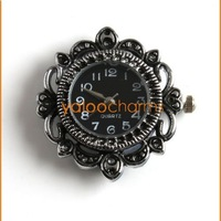 Wholesale - 4 New Carved Flower Watch Face li-ion battery Round Watch Case Accessories Have stock 151453