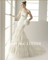 Clearance sale lace beading mermaid wedding dress