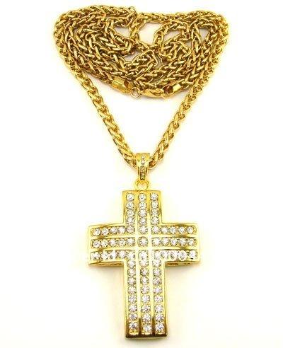 free shipping wholesale bling bling jewelry cross shape