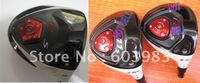 R S golf driver and wood (9 or 10.5 +3#+5#  3pcs/lot) graphite shaft regular or stiff with free headcover freeshipping
