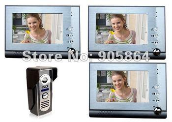 night vision function Luxury 1 to 3 video door phone intercom,With