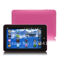 Free Shipping +Wholesale +High Quality 1pcs Pink 7 inch Eken M009S Google Android 2.2  VIA 8650 800MHz 4GB Tablet PC