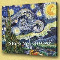 Van Gogh oil paintings (Starry Night) handmade canvas decorative painting U2VG11