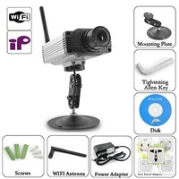 Surveillance IP Camera Support WiFi + Ethernet + Motion Detection Alarm