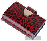 wholesale + 100% genuine Cow leather wallet + new fashion designer credit Card Holder gift box hot sale