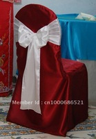 Burgundy  SatinChair cover/wedding banquet chair covers/wholesale/freeshipping
