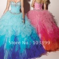 Charming Sweetheart Ball Gown Ruffle Nice Combination Quinceanera Dress