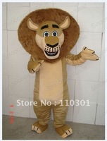 Brown Lion Adult Size Mascot Costume Fancy Outfit Free Shipping