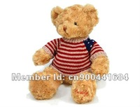 "sale 18"" Stuffed Teddy  bear In Nice Sweater soft bear Free Shipping Plush Toy"