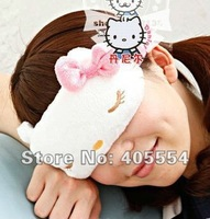 Promotions - 2PCS/LOT 2012 Christmas gift New Cute Soft Travel Sleep Eye Mask Shade Hello Kitty Sleep Eye Mask