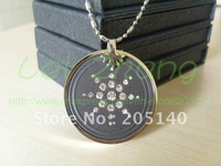20 pcs / lot Quantum Scalar Energy Pendant Steel Chain Style (Black) free shipping by DHL or EMS