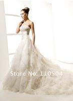 w314 Charming strapless wedding dress