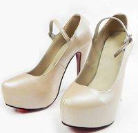 Goat Leather High heel Shoes,waterproof platform ,china high heel pumps on sale