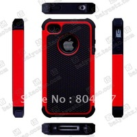 New armor series pc + silicone case for iphone 4 4s,For iphone 4 4s cover case