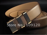 FREEE SHIPPING Pin Buckle Business brand Casual hot sell Cow Hide Men's Belt 100% Genuine Leather Belt fashion 1pc Wholesale