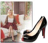 Classique New Black Genuine Leather Very Priv Pumps Women's High Heels Shoes