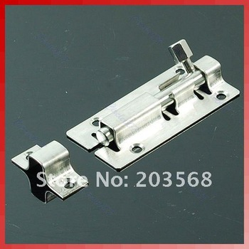 5 pcs/lot Stainless Steel Door Latch Barrel Bolt Latch Hasp Stapler Gate Lock Safety