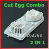 2 IN1 Mold Flower Edges Cut Kitchen Egg Cutter Multifunction Slicer Sectioner