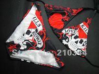 Free Shipping+Wholesale+2012NEW Sexy Fashion HOT Sale Women Swimwear Love Kills Bikini Bathing Suit Swimsuit Size S/M/L BE9116#