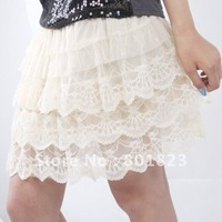 Free shipping-1pc,lace Yarn Skirt,Double Cake Skirt(color same as picture)best-selling
