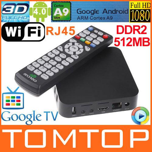 Android 4.0 Google TV Box ARM Cortex A9 WiFi HD 1080P HDMI Internet TV