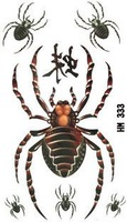 Waterproof colorful and sexy spider temp tattoos