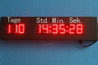 outdoor led digital countdown clock