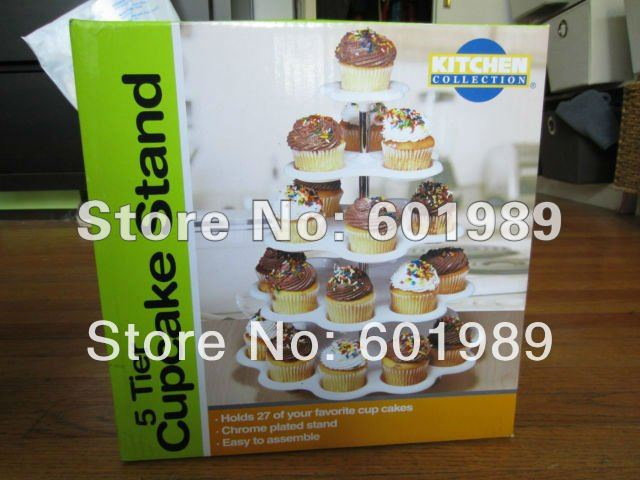 5 Tier CUPCAKE DESSERT HOLDER STAND Cake Muffin Wedding Birthday Party Kitchen Bakeware Tool(China (Mainland))
