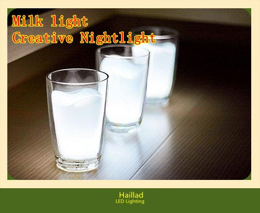 Creative Milk LED Nightlight,White light led lighting(China (Mainland))