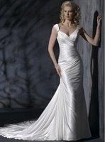 Sexy  wedding dress patterns V-neck Mermaid 2012 new style free shipping AD2044