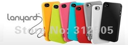 Newest Sweasy Lanyard back case for iphone 4G 4S,for iphone 4 case,Fashion and Nice design,Free shipping(China (Mainland))