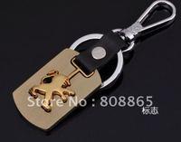 K1355 free shipping 12 pcs/lot car keychain Flag car keychains fashion keychain leather keychains high-grade quality keychain