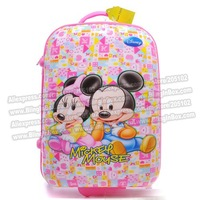 "Дорожная сумка 16"" Lovely hello kitty cartoon rolling children luggage, ABS hard shell trolley luggage/Pull Rod Travel"