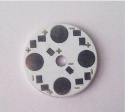Free Shipping!4w Cooling aluminum plate,4*1w High Power LED lamp beads 28mm,aluminium sheet in series,50pcs/lot(China (Mainland))
