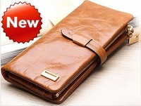 Клатч 6 colors 100% Genuine Leather women&men's multifunction wallets, 2 money places, 12 card places, 2 zipper coin purses