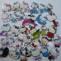 FREE SHIPPING 100pcs/lot zinc alloy Mixed Hello Kitty enamel pendants charms