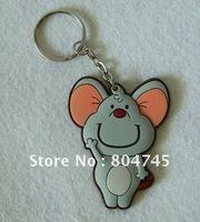 Custom  Design PVC Keychain,  Soft PVC Key Ring, Promotion Gift, 200pcs/Lot