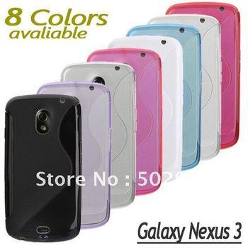 DHL Free DISCOUNT S Curve Line Soft TPU Gel Case For Samsung Galaxy Google Nexus 3 Prime i9250 phone back cover 50pcs/lot 100pcs
