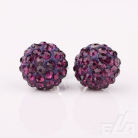 925 Silver Shamballa Earrings Jewelry Wholesale, New Shambala crystal Earrings Micro Pave CZ Disco Ball Bead
