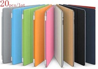 20pcs/lot free ship dhl /ems,Top Cover,Smart Cover,Microfiber Table PC Leather Case,Colse Sleep Open Wake for iPad 2/3/4