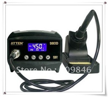 ATTEN AT980D LCD Digital dispaly ESD safe,soldering station,80W (150'C~450'C),AT300056