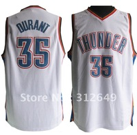 Hot sales basketball official OKC jersey, OKC #35 Durant MVP, free shipping
