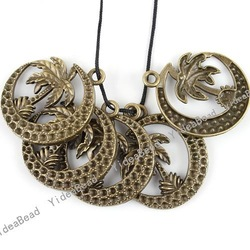 Wholesale - 30PCS New Antique Bronze Charms pendants Bead MOON Shpae Vintage Charms Pandents IN Stock 141010(China (Mainland))